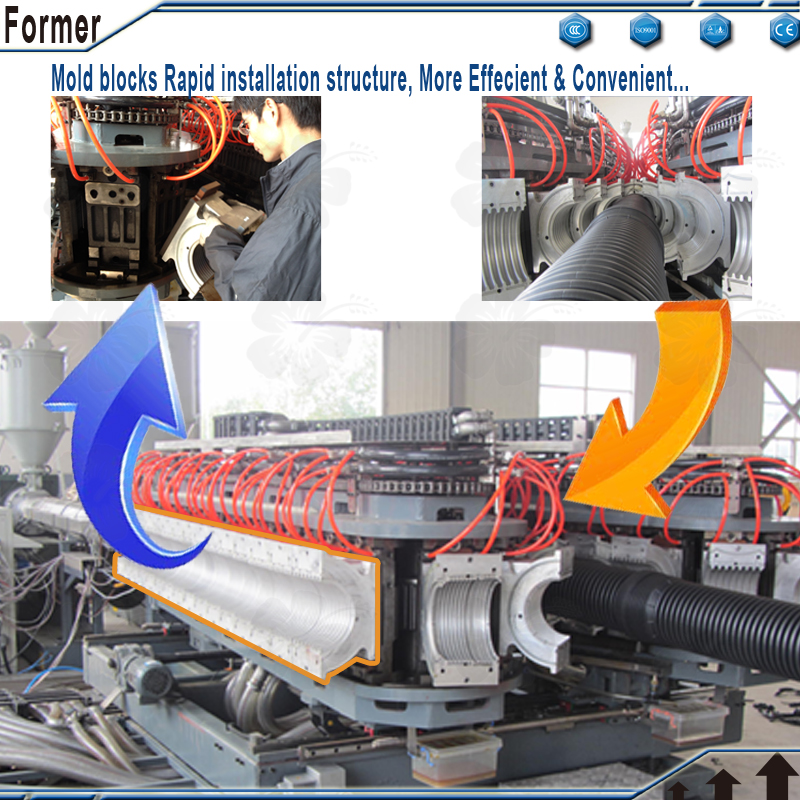 corrugated pipe machine