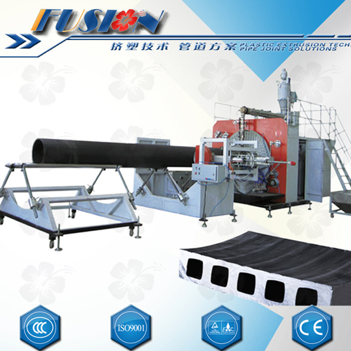 hollow wall winding pipe production line